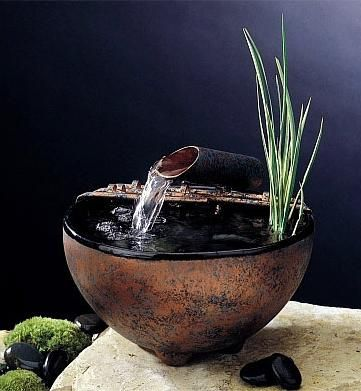 Nature Bowl Indoor Tabletop Fountain T E C H O F F I C E