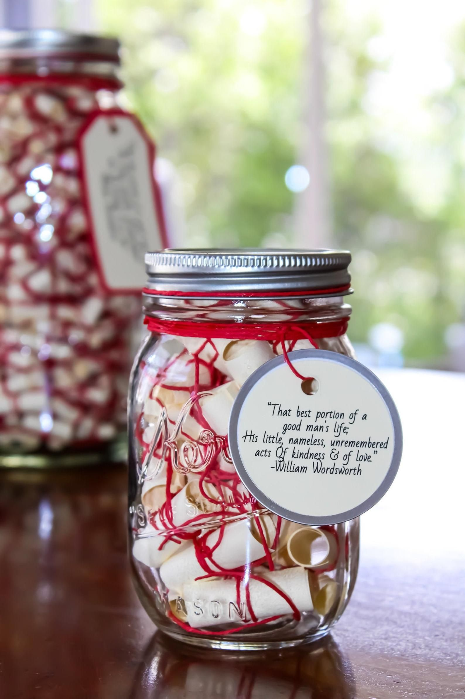 Message Filled Mason Jar Love Wish Jar Mason Jars Love Wishes Jar