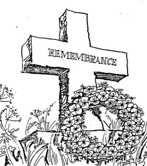Remembrance Days Coloring Page