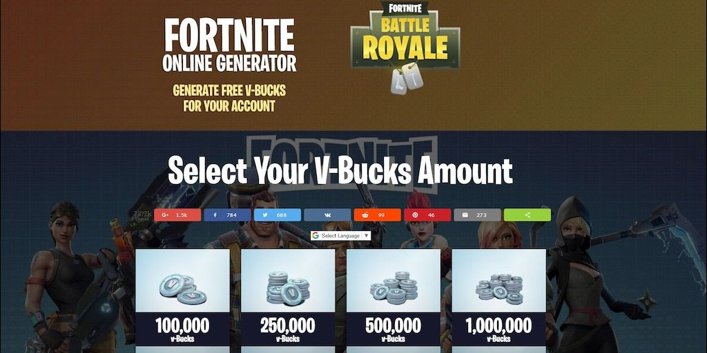 Here we have the fortnite game free V bucks generator by