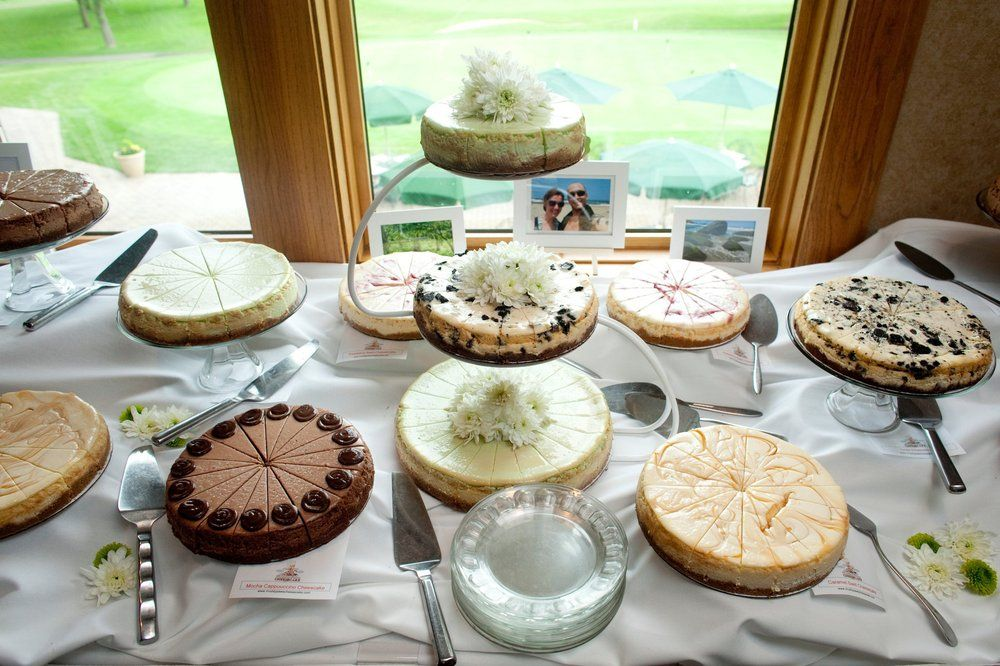 Wedding Cheesecake Buffet Photo By James Ramsay Photography