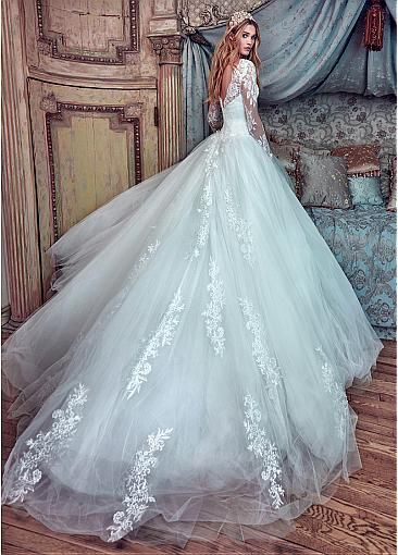 Graceful Tulle Bateau Neckline Ball Gown Wedding Dresses With Beaded ...