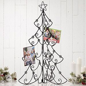 Folding Metal Tree Tabletop Christmas Card Display Holder 31 75