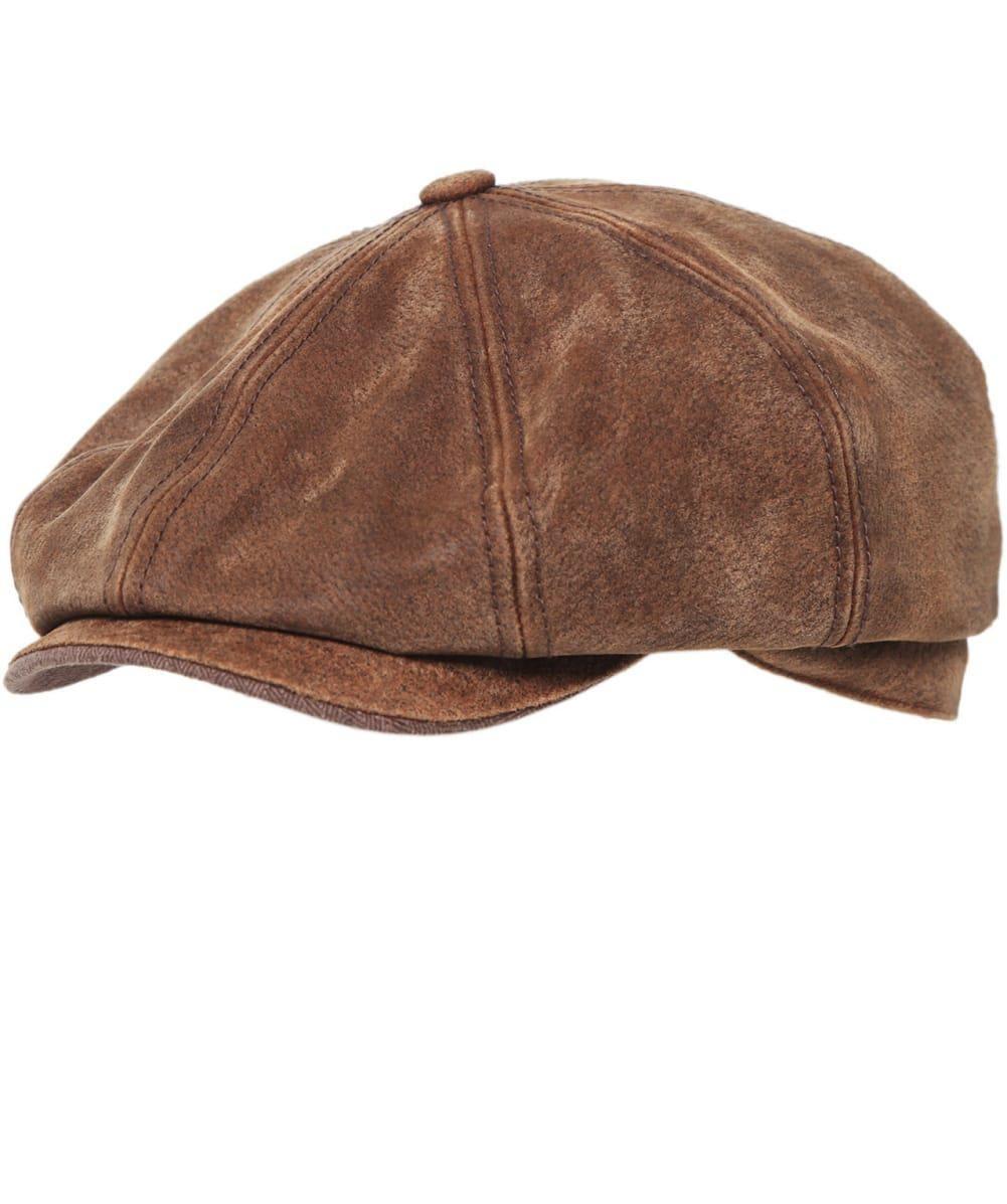 05207cb740f12 Stetson - Brown Burney Pig Skin Cap for Men - Lyst Mens Caps
