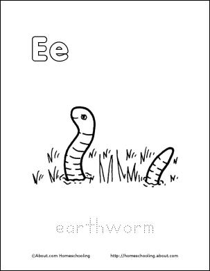 Letter E Coloring Book