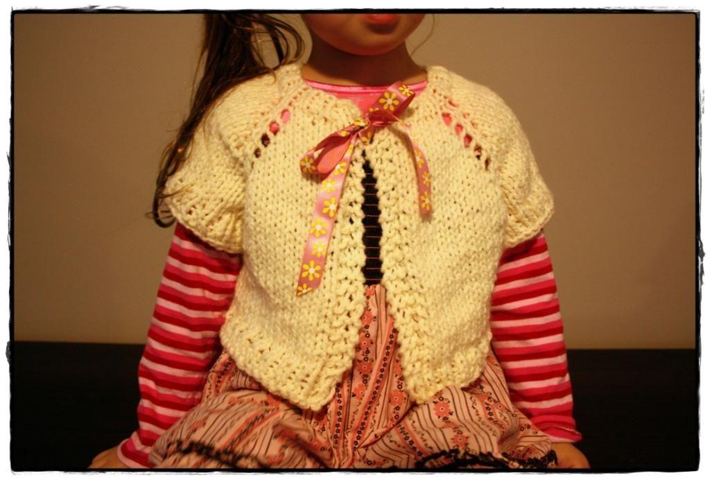 Easy Seamless Bolero Shrug (For Kids) - Free Knitting ...