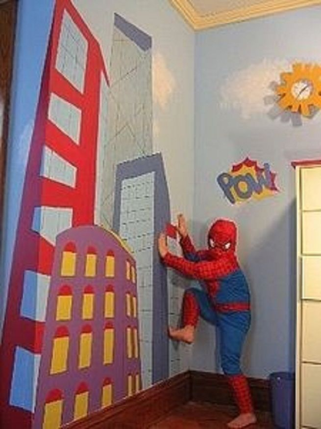 Elegant Superhero Wall Decals  The Most Frolic And Striking Wall Décor: Superhero  Wall Graphics ~