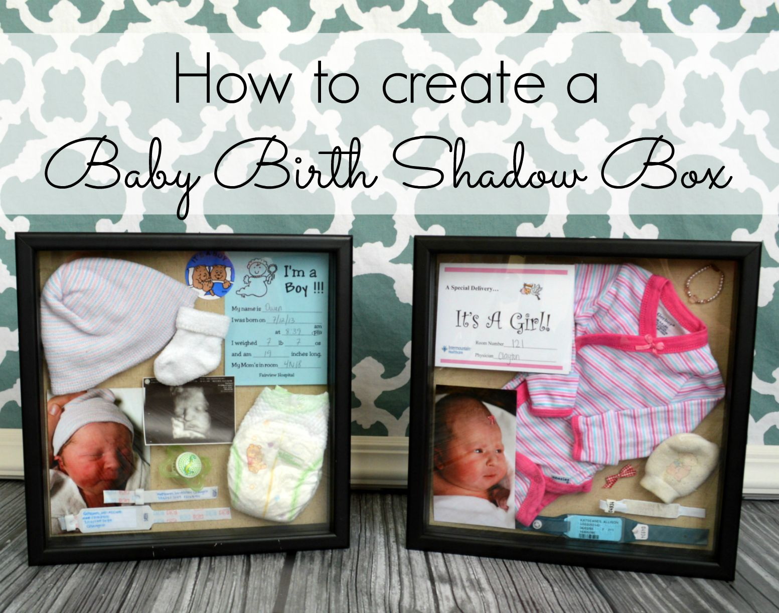 How To Create Adorable Baby Birth Shadow Boxes So Easy And Beautiful Display