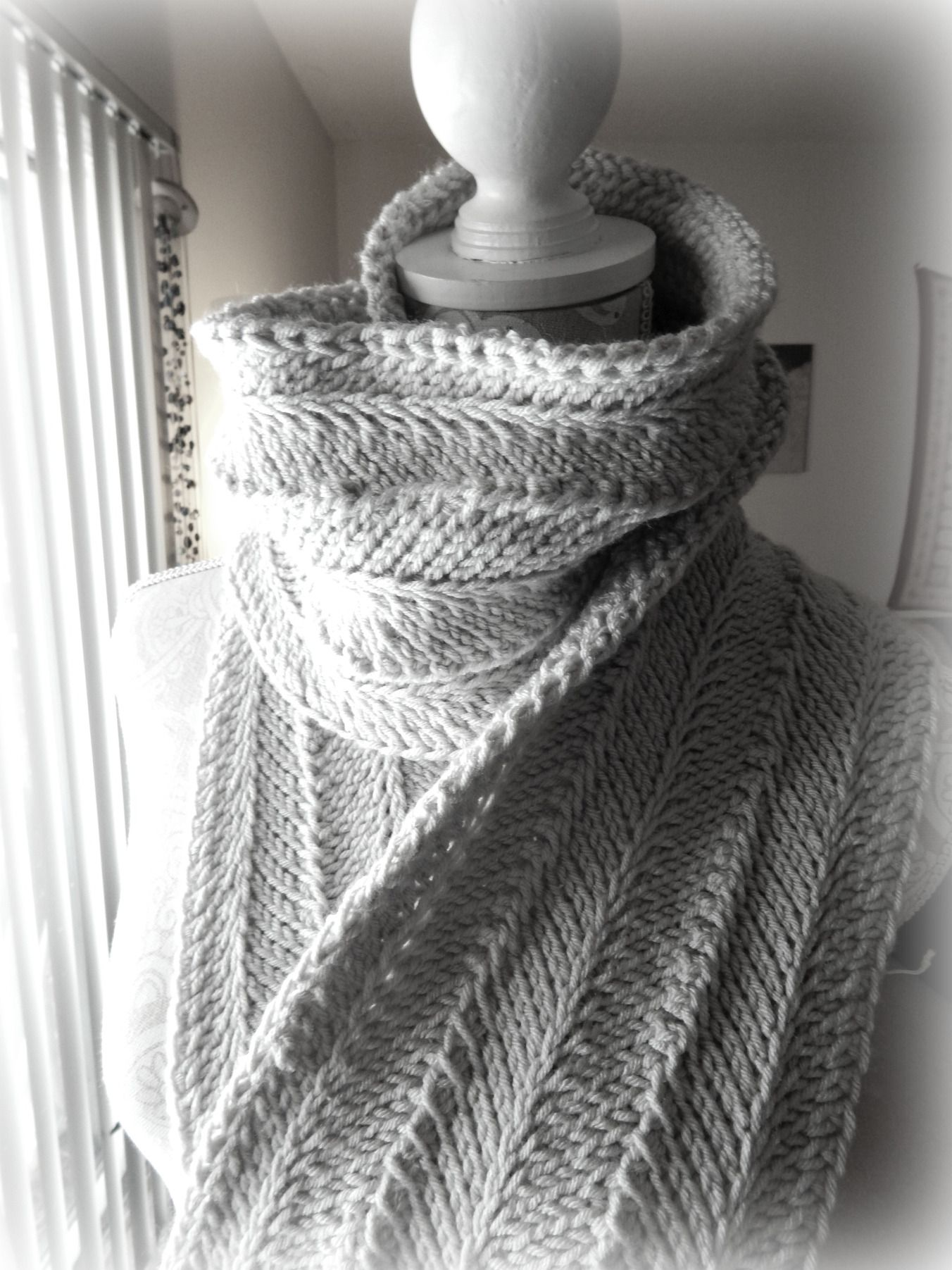 Tunisian Ripple Scarf Free Pattern Free Crochet Patterns