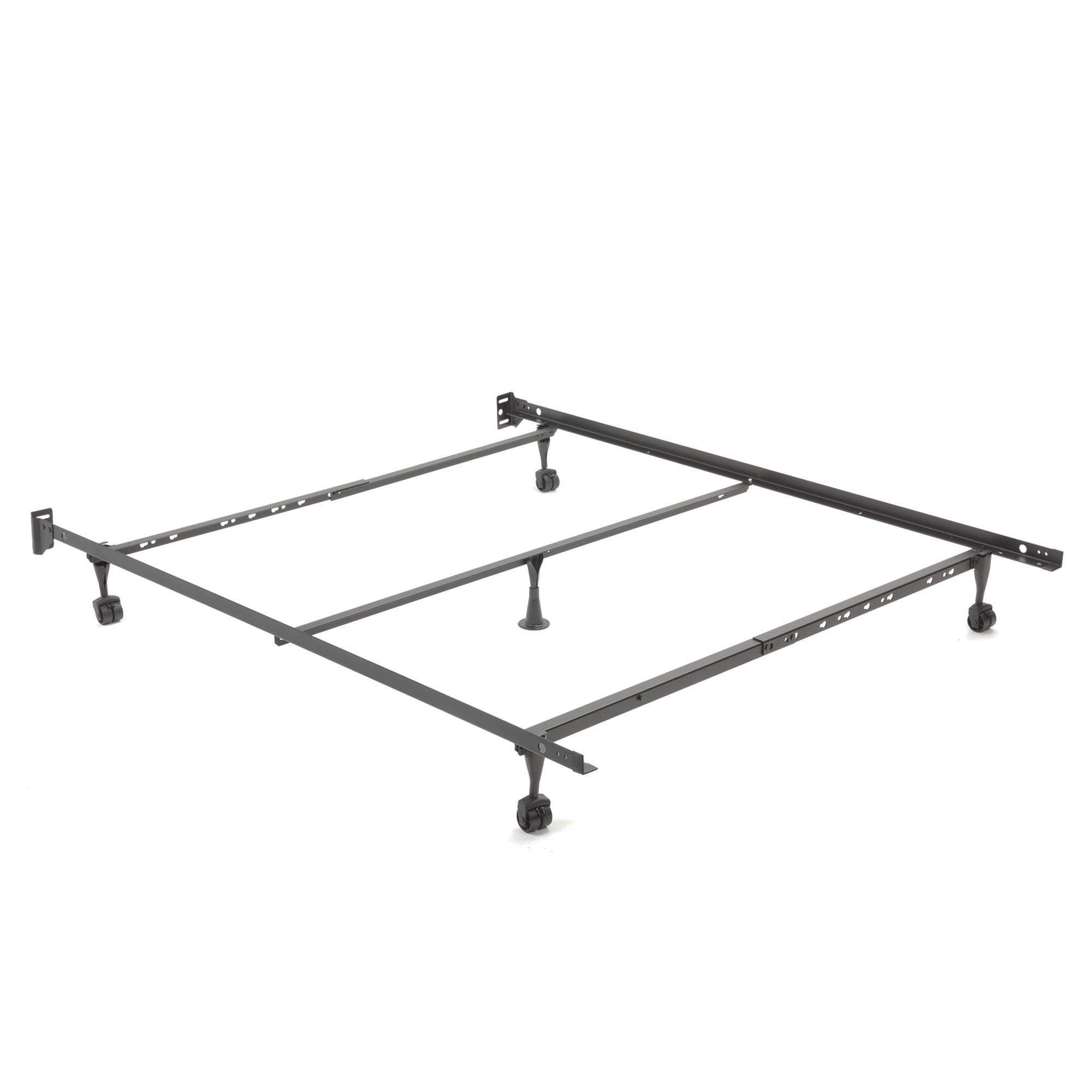 restmore adjustable q45r cross support bed frame w fixed headboard