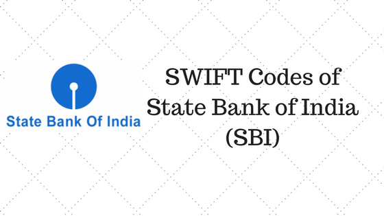 SWIFT Codes of State Bank of India