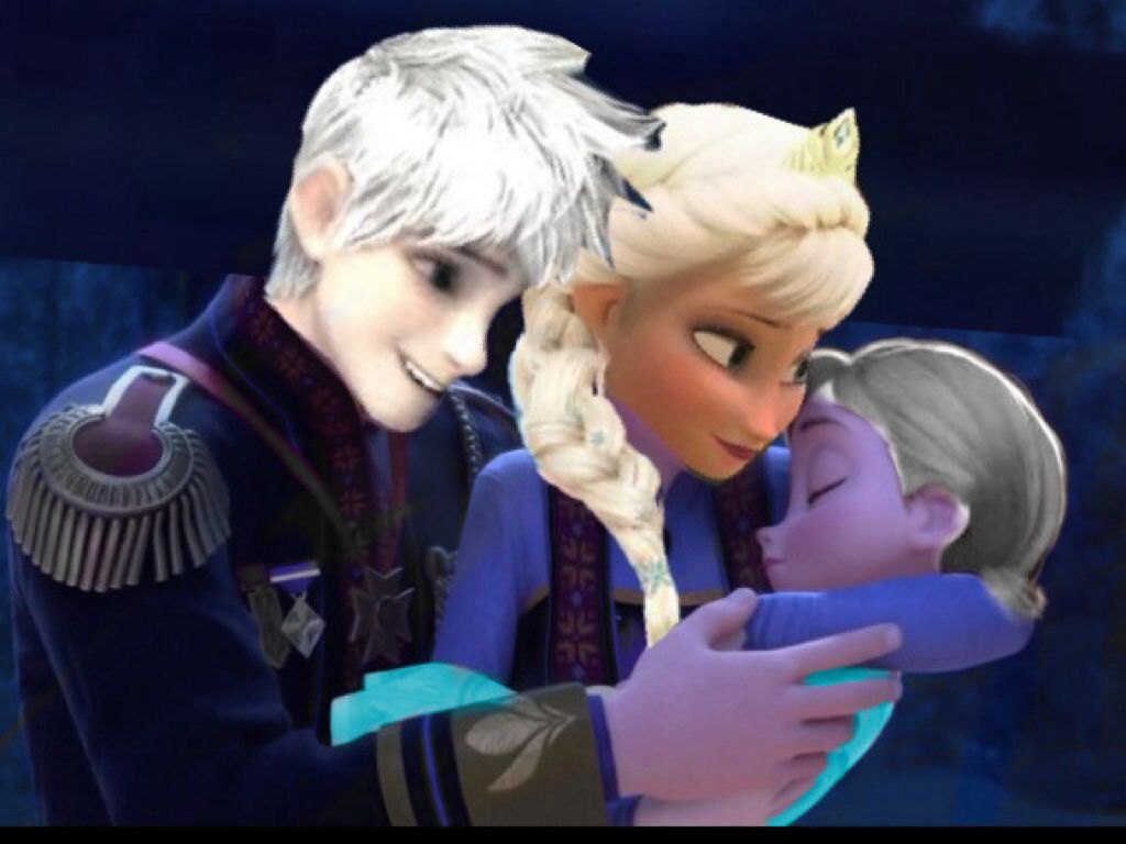 Jack And Elsa Holding Their Daughter Jack Frost And Elsa Jelsa Jack Frost