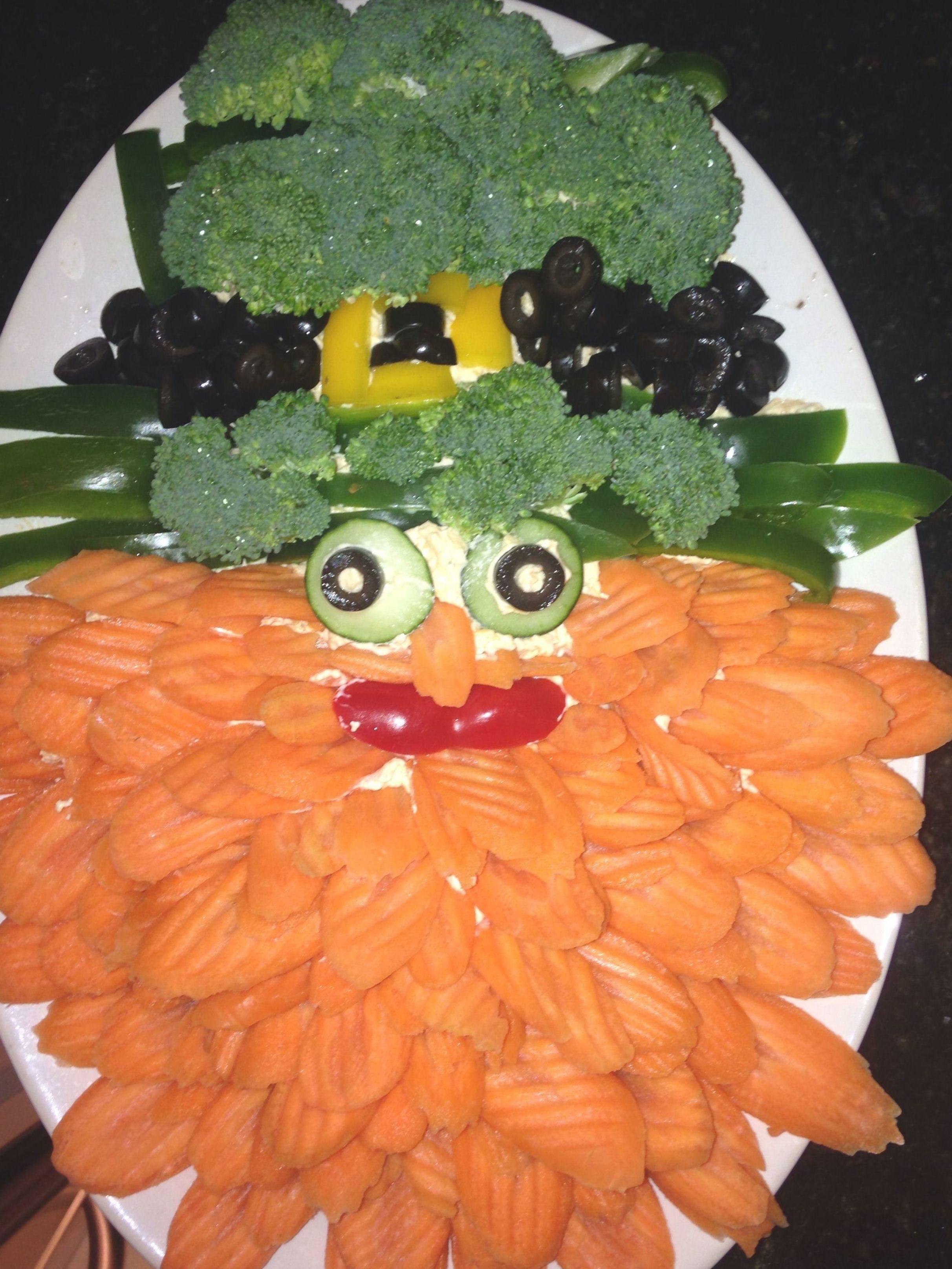 St. Patrick's Day Veggie Leprechaun appetizer