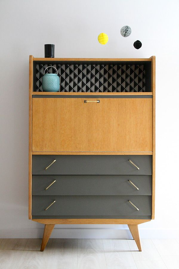 amazing les meilleures ides de la catgorie secretaire vintage sur pinterest meubles midcentury. Black Bedroom Furniture Sets. Home Design Ideas