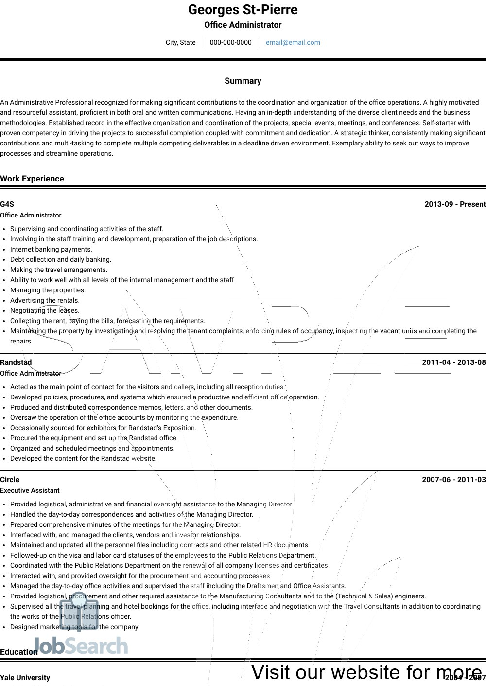 Office Administrator Resume Sample 2020 Office Administrator Resume Sample Office Administrator Curricu In 2020 Job Resume Template Job Resume Resume Template Free