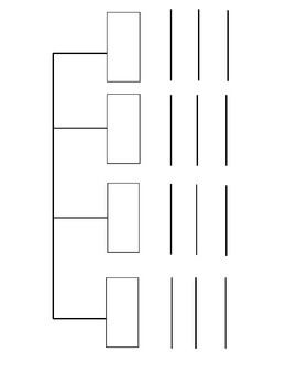 Free Four Part Blank Tree Map
