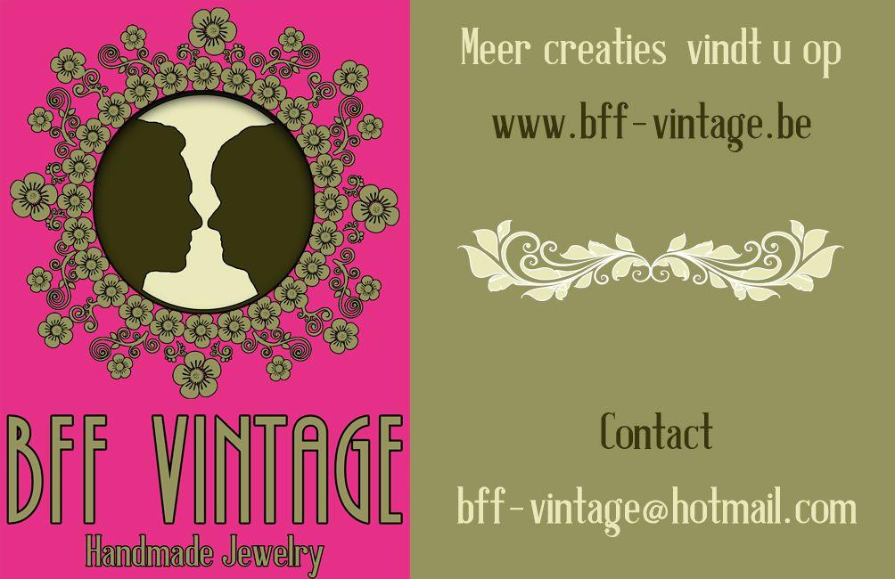 BFF-Vintage : handgemaakte juweeltjes met een vintage toets. Website www.bff-vintage.be.
