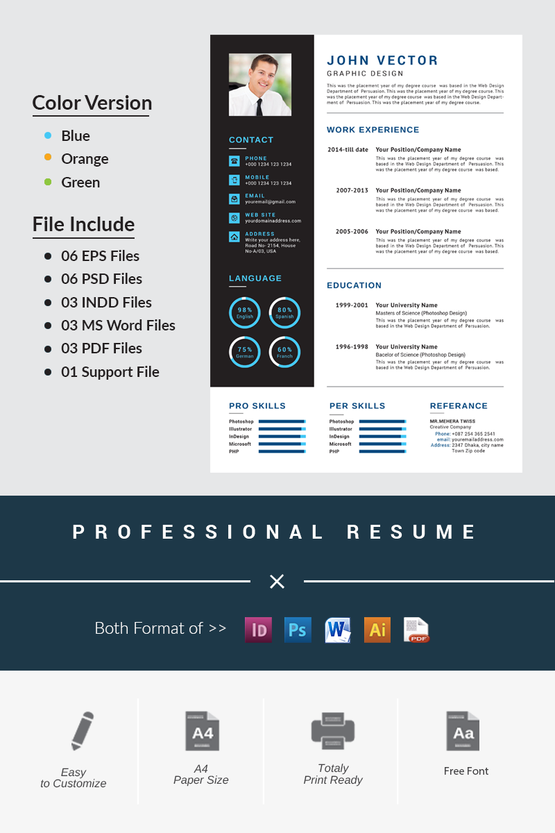 Modern Creative Resume Template 66202 With Images Creative Resume Creative Resume Templates Resume Template