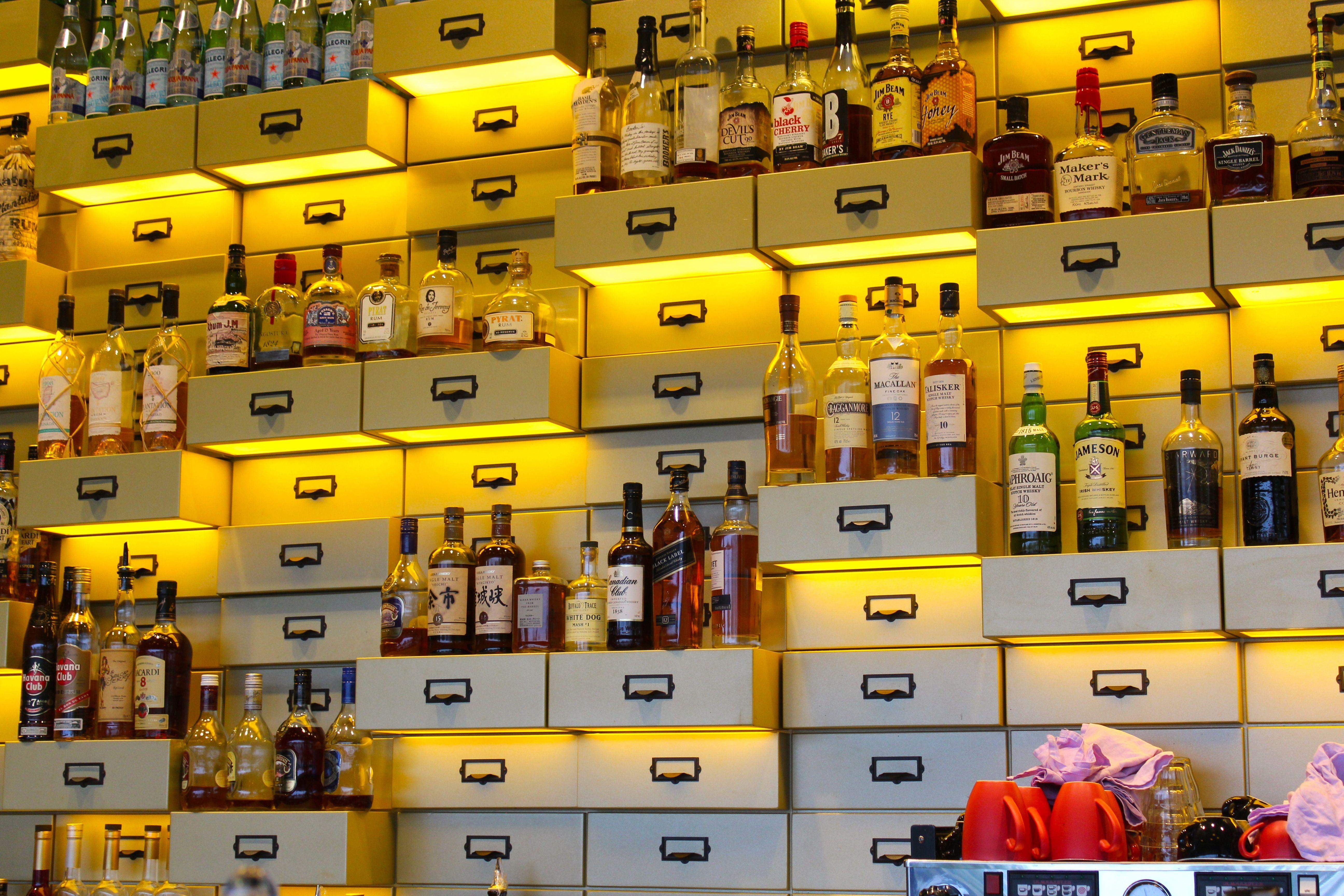 Cool Bar Display Southbank Brisbane Bar Displays Cool Bars Bar Design