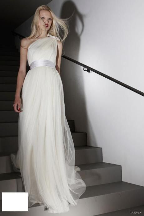 Grecian Style Lanvin Wedding Dresses