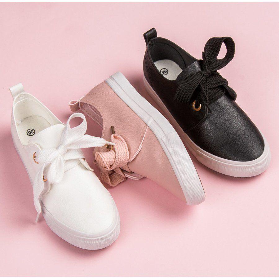 Seastar Stylowe Trampki Wiazane Wstazka Rozowe Shoes Sneakers Puma Sneaker