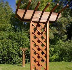 Outdoor Clothesline Ideas Wooden Clothesline Pole For The Home