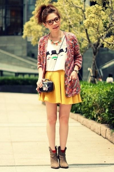 Light-brown-suede-zara-boots-black-bag-yellow-skater-skirt-white-t-shirt a6e6e3bfb