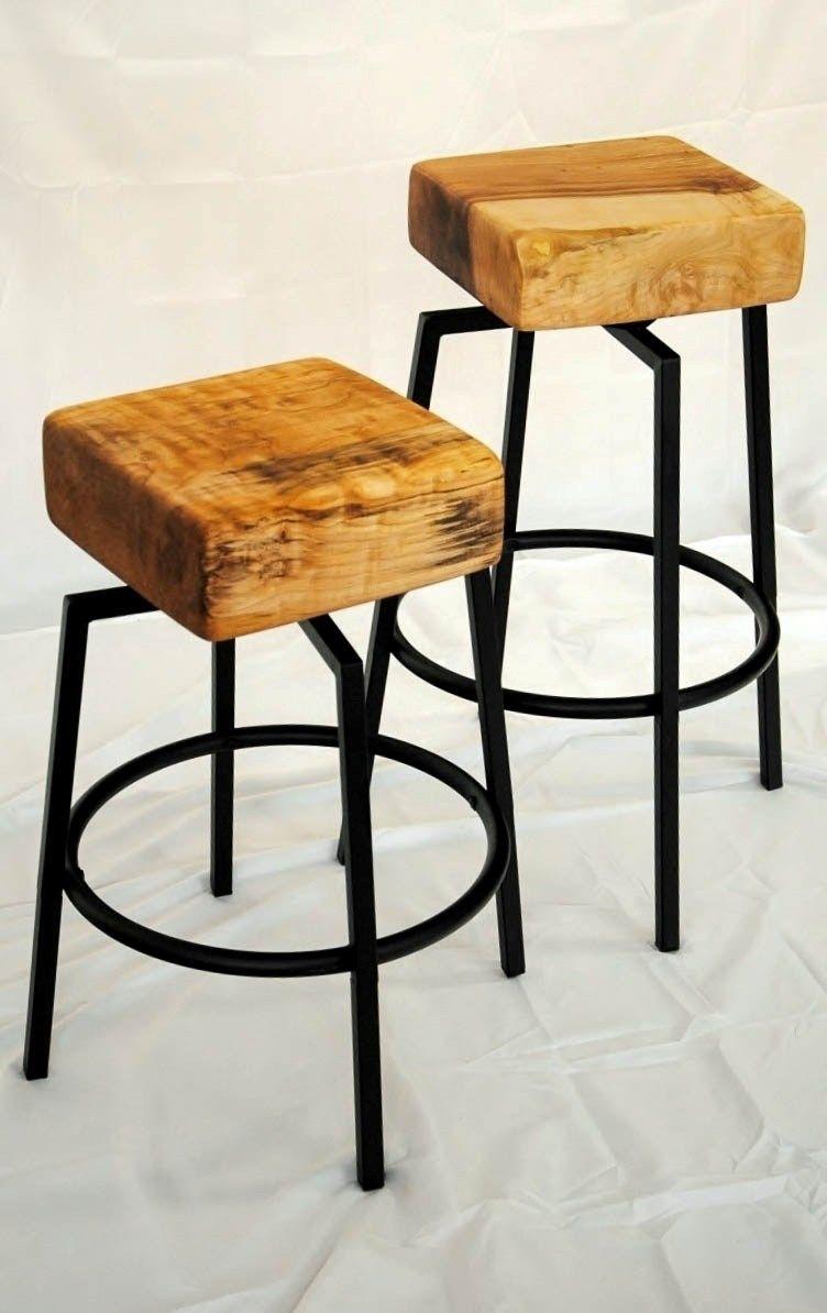 Fabulous Butcher Block Barstools By Mckdesign Custommade Stool Creativecarmelina Interior Chair Design Creativecarmelinacom