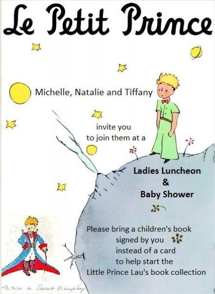 Le Petit Prince Invite Part 2 Le Petit Prince Themed Baby Shower