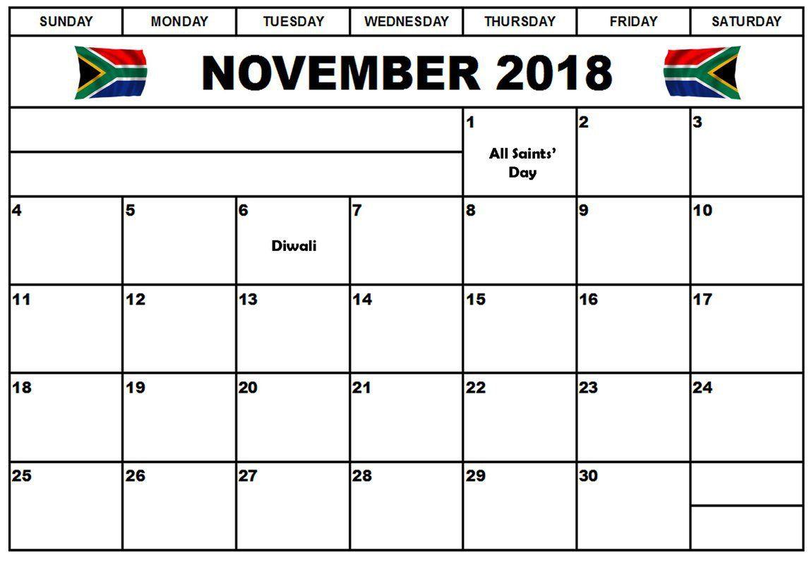 november 2018 calendar south africa africa calendar november south