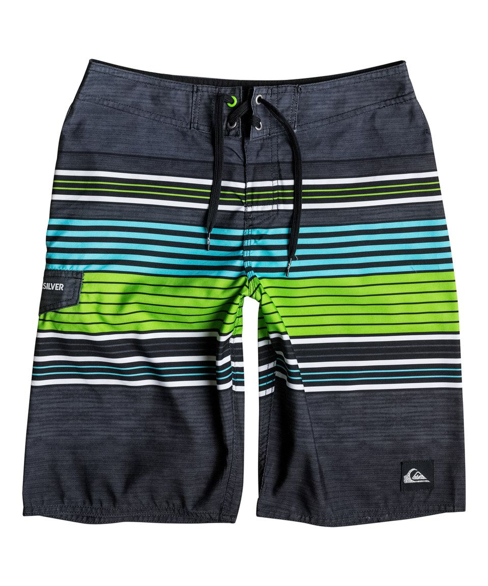 0252c7424ba27 Another great find on  zulily! Quiksilver Green Gecko Cerrano Boardshorts -  Boys by Quiksilver  zulilyfinds
