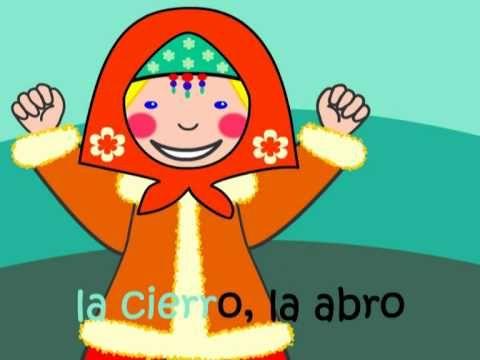 Spanish finger play song: Saco una manito - good Direct Object Pronoun usage body vocab