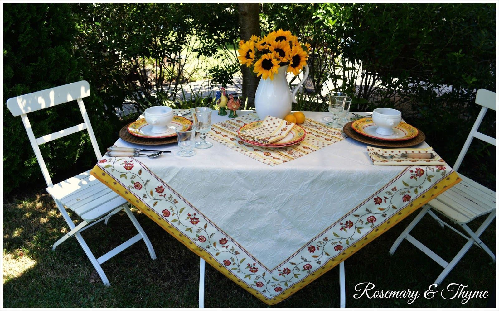 Rosemary and Thyme Table Inspired By The