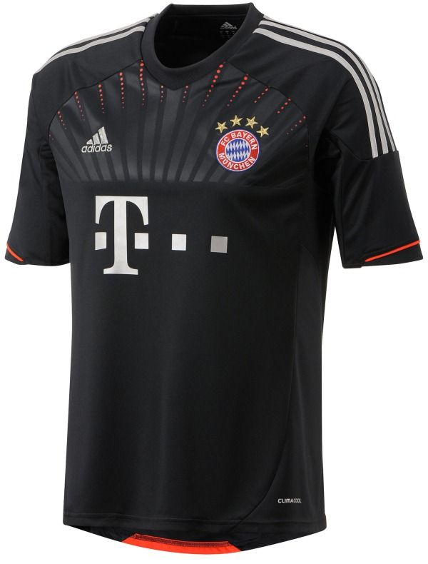 982e7ff548 12 13 Bayern Munich Black Away Soccer Jersey Shirt Replica