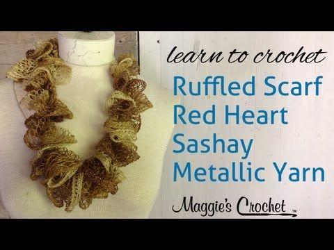 Crochet Ruffle Scarf Sashay Metalic Yarn with Maggie Weldon   Crafty ...
