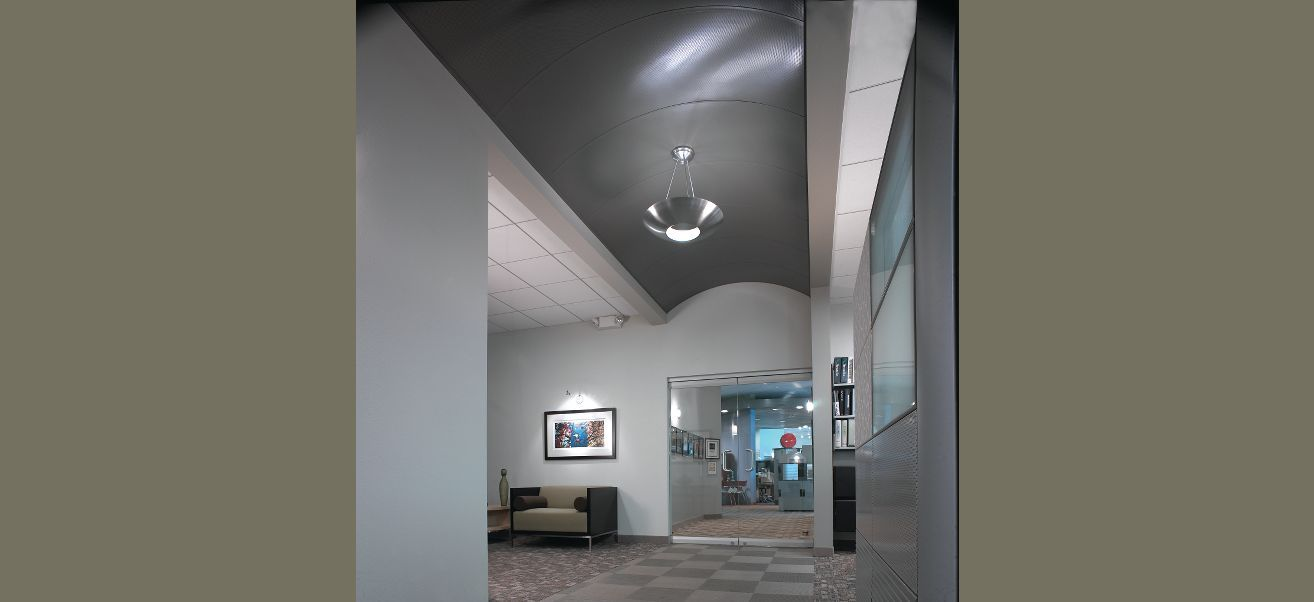 suspended metal ceiling system option 1