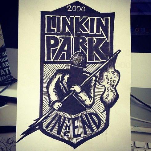 """""""The playlist project"""" Una canción ilustrada al día durante un año por Robba Saldaña. In the end (Linkin Park)"""