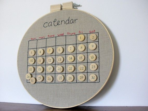 Perpetual Calendar Brilliant! Now this would be a great craft party