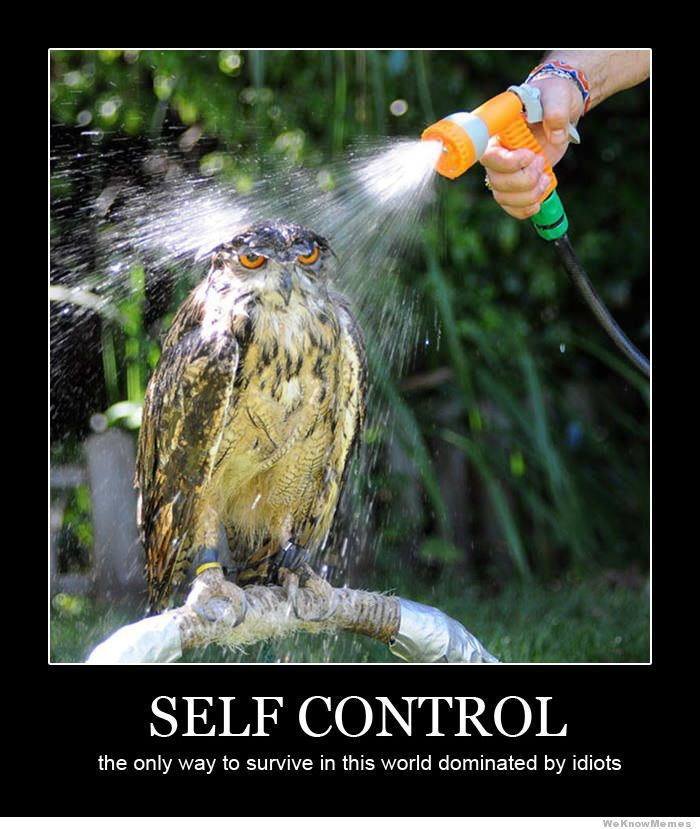 Self control the only way to survive in this world
