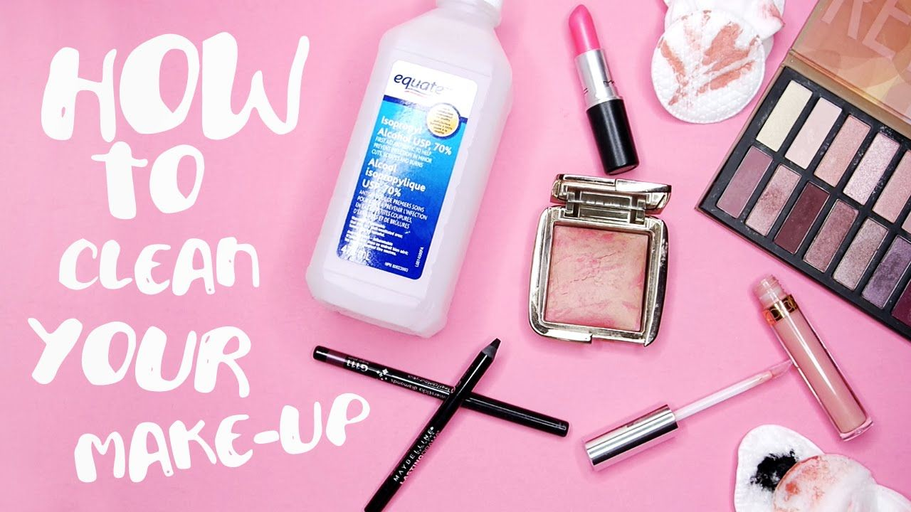 How To Clean + Sanitize Your MakeUp! by tashaleelyn