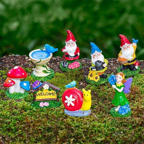 Attrayant Mini Polyresin Fairy Garden Figurines, 3 Ct. Packs