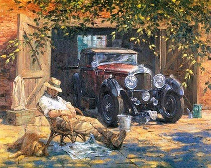 Paint By Numbers Kit Villarge In The Morning Car Painting Paint By Number Wall Art Pictures