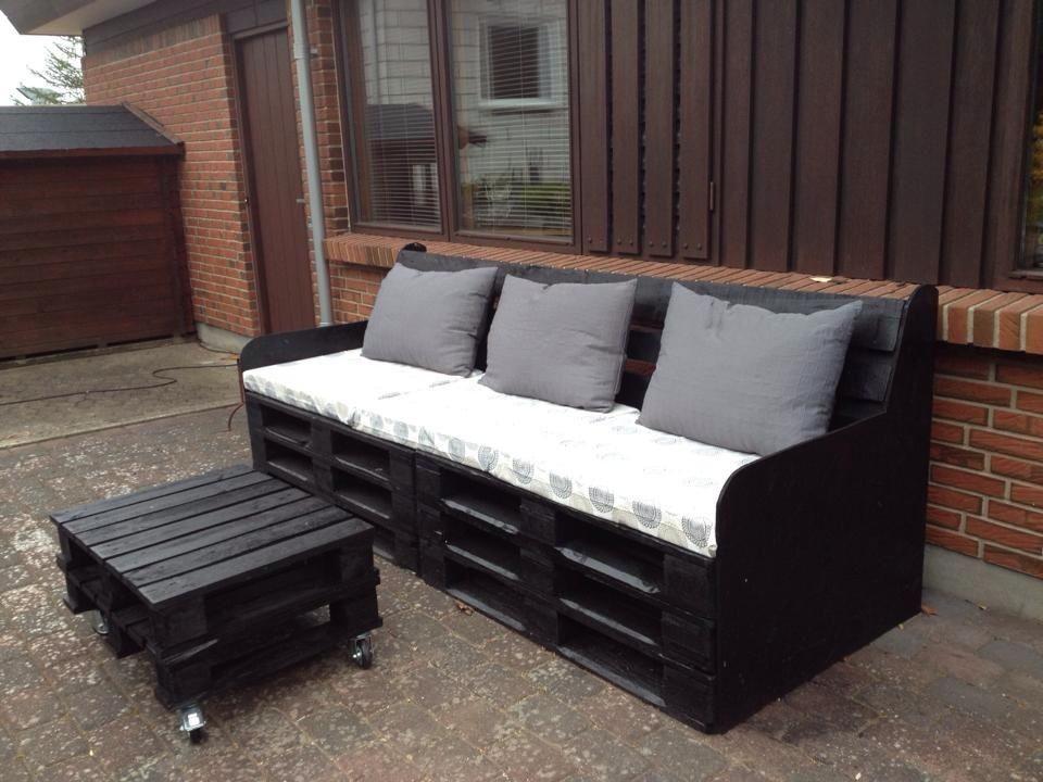 terrasse sofa bord kreativ med paller pinterest