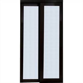 48 In X 80 In Espresso Full Lite Interior Sliding Door Sliding Doors Interior Frosted Glass Door Sliding Glass Door Replacement