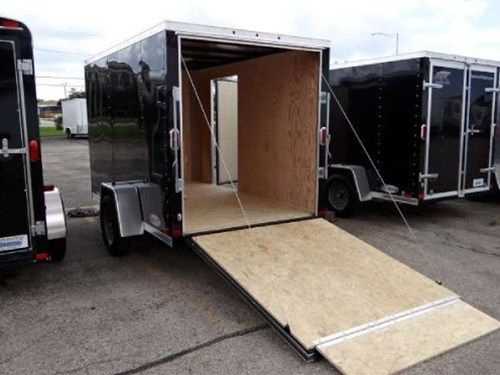 Enclosed Black 6 X 10 Atc Aluminum Trailer Company Cargo Trailer This Is A Very Nice 6 X 10 Cargo Trailer With A Rear Ramp Door A Side D Aluminum Trailer