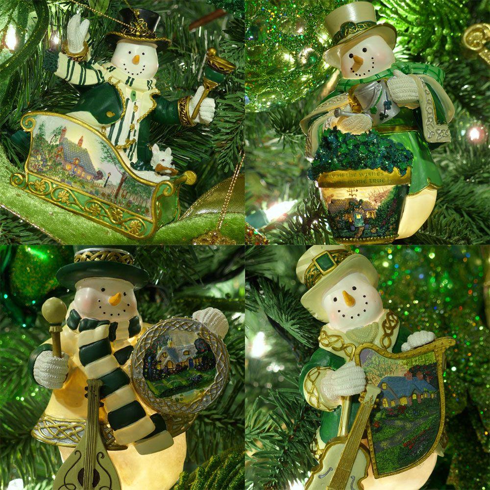 4 Unique Irish Snoman Ornaments Irish Christmas Decorations Irish Christmas Christmas Decorations Sale
