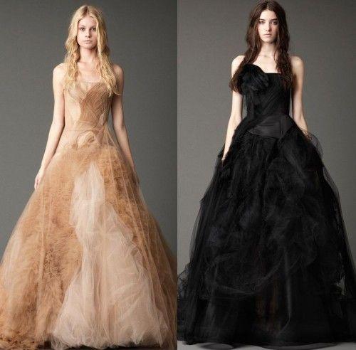 Vestido novia otoñal. Foto del sitio de Vera Wang. | vestidos ...