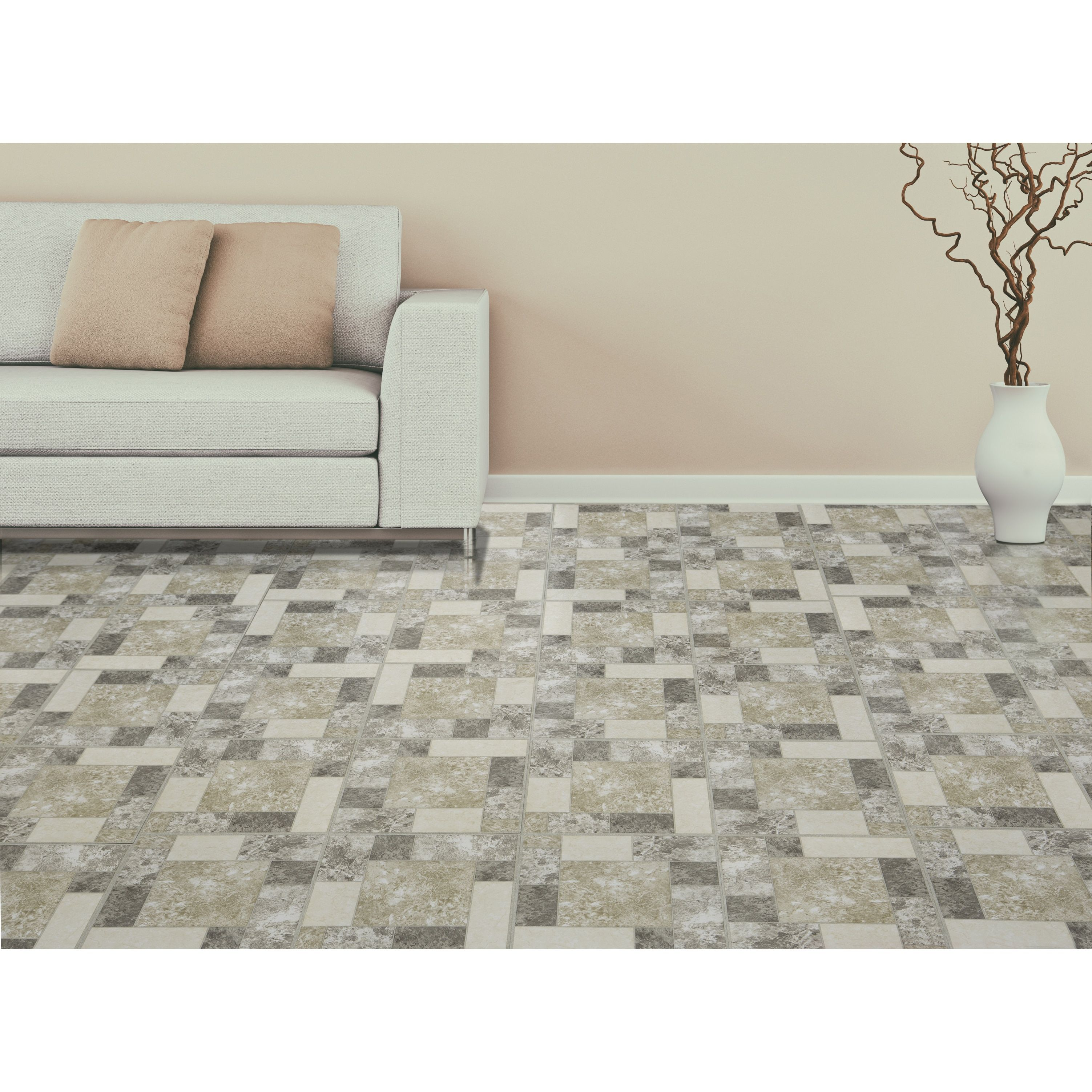 Achim tivoli marble blocks 12x12 self adhesive vinyl floor tile 45 achim tivoli marble blocks 12x12 self adhesive floor tile 45 tiles45 sq ft dailygadgetfo Choice Image