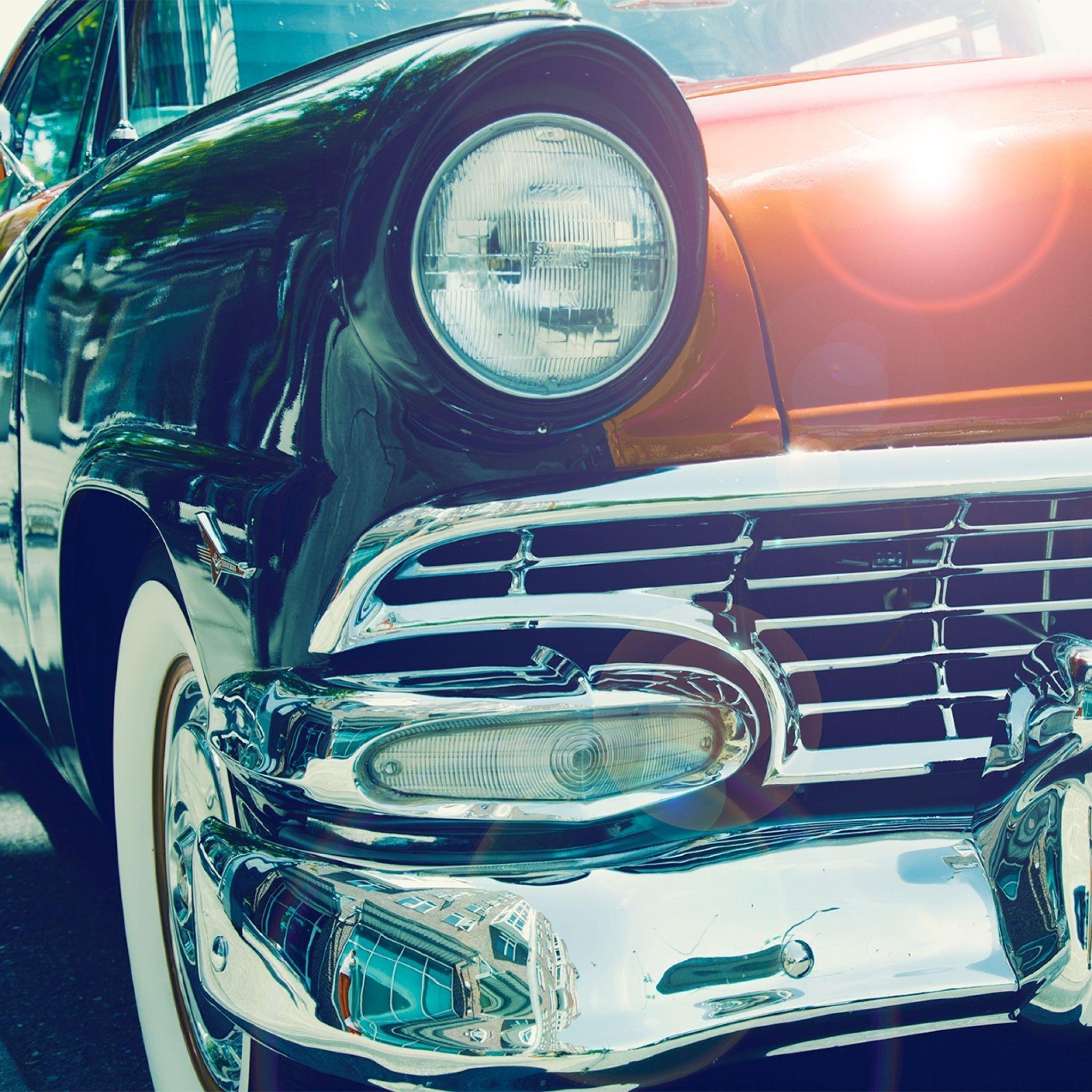 Cars Vintage Front Headlight