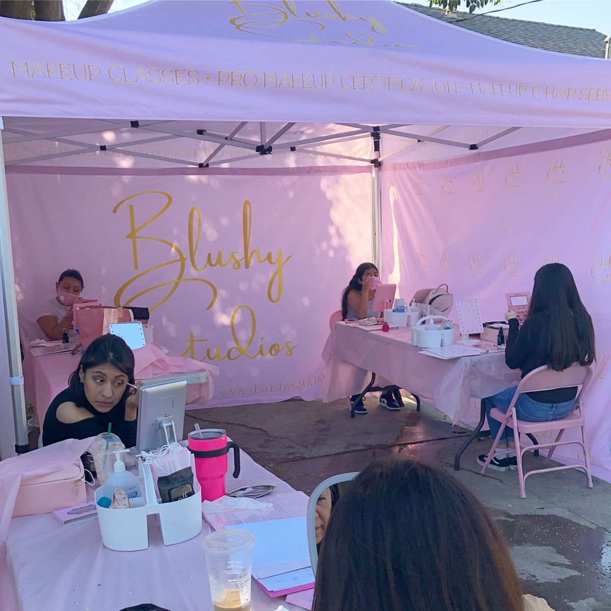 Blushy Studios Students Learning How To Do Their Own Makeup In 2020 Makeup Course Makeup Academy Student Learning
